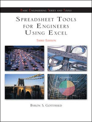 Spreadsheet Tools for Engineers using Excel