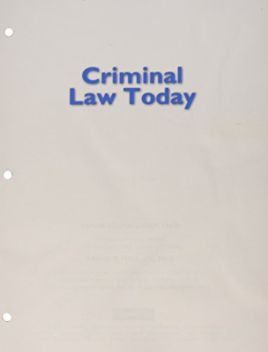 Criminal Law Today, Student Value Edition Plus Mycjlab with Pearson Etext -- Access Card Package