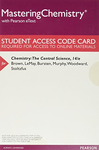 Mastering Chemistry with Pearson eText -- ValuePack Access Card -- for Chemistry