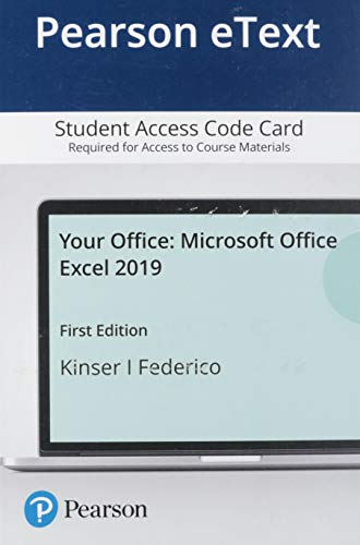 Pearson Etext Your Office Access Card