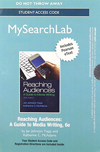 NEW MySearch Lab with Pearson eText -- Standalone Access Card -- for Reaching Audiences