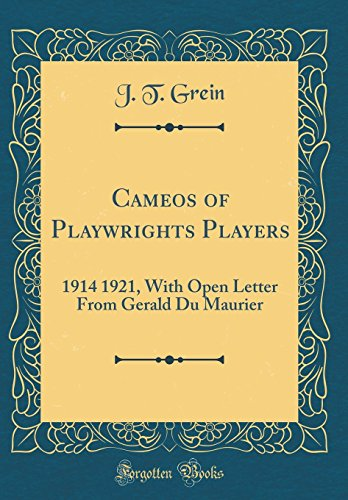 Cameos of Playwrights Players