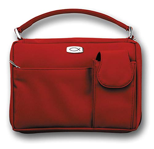 Microfiber Red with Exterior Pockets LG