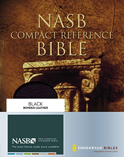 NASB, Compact Reference Bible, Bonded Leather, Black, Red Letter Edition