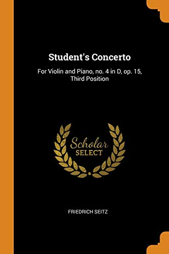 STUDENT'S CONCERTO: FOR VIOLIN AND PIANO