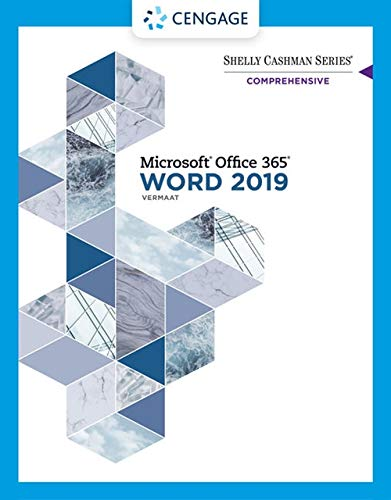 Shelly Cashman Series (R) Microsoft (R) Office 365 (R) & Word 2019 Comprehensive