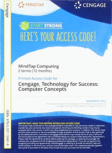 Mindtap for Campbell/Ciampa/Clemens/Freund/Frydenberg/Hooper/Ruffolo's Technology for Success: Computer Concepts, 2 Terms Printed Access Card