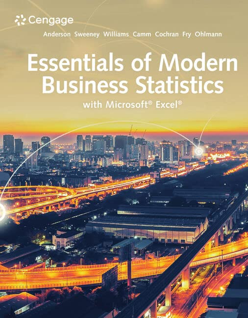 Essentials of Modern Business Statistics with Microsoft (R) Excel (R)