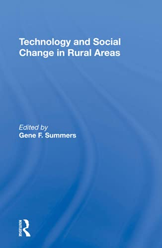 Technology And Social Change In Rural Areas