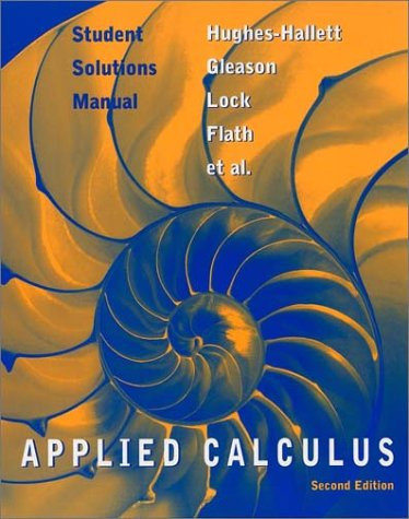 Applied Calculus: Student Solutions Manual
