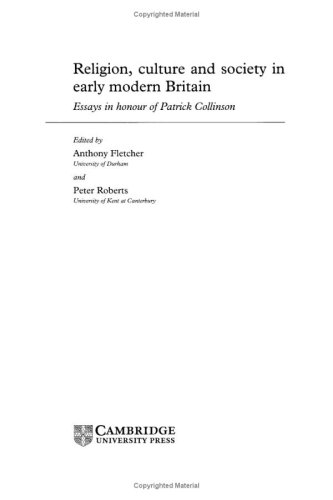 Religion, Culture and Society in Early Modern Britain