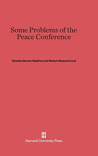 Some Problems of the Peace Conference