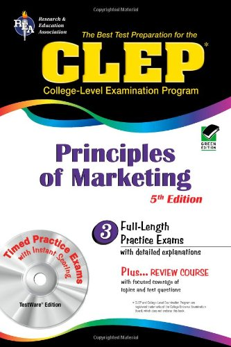 CLEP Principles of Marketing W/ CD-ROM