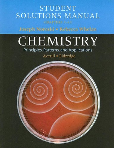Student Solutions Manual, Chemistry, Chapters 1-13
