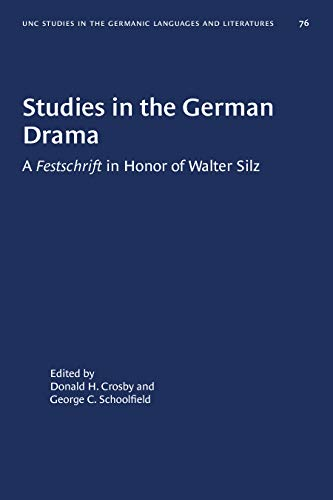 Studies in the German Drama