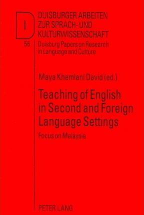 Teaching of English in Second and Foreign Language Settings