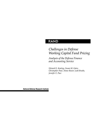Challenges in Defense Working Capital Fund Pricing