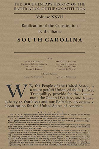 The Documentary History of the Ratification of the Constitution Volume XXVII, 27