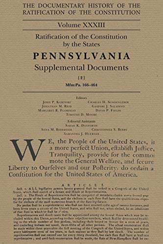 The Documentary History of the Ratification of the Constitution, 33