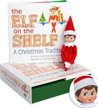 The Elf on the Shelf Girl Light Doll with Book