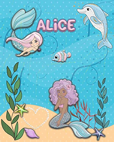 Handwriting Practice 120 Page Mermaid Pals Book Alice