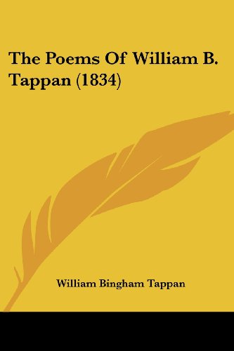 The Poems Of William B. Tappan (1834)