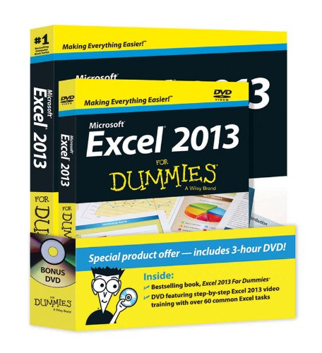 Excel 2013 For Dummies, Book + DVD Bundle