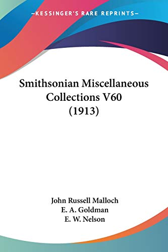 Smithsonian Miscellaneous Collections V60 (1913)
