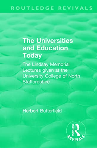 : The Universities and Education Today (1962)