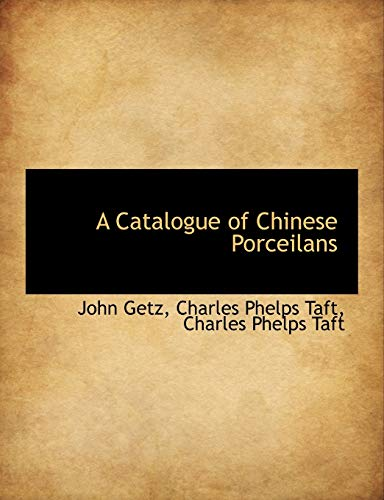 A Catalogue of Chinese Porceilans