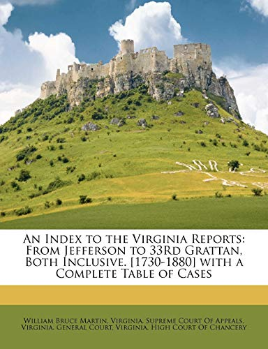 An Index to the Virginia Reports