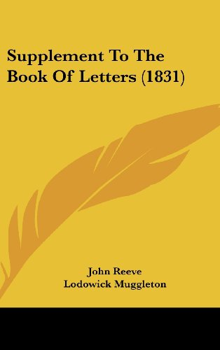 Supplement to the Book of Letters (1831)