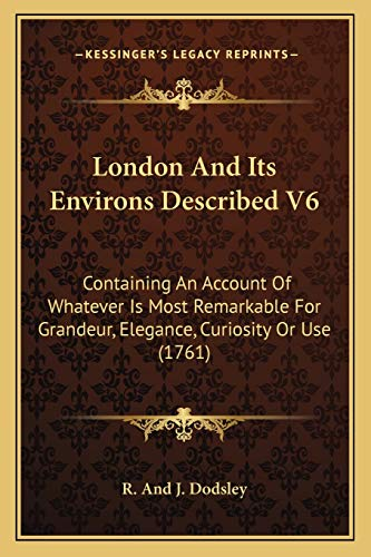 London And Its Environs Described V6