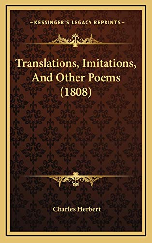 Translations, Imitations, And Other Poems (1808)