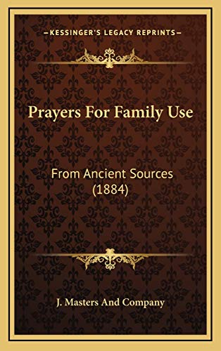 Prayers for Family Use