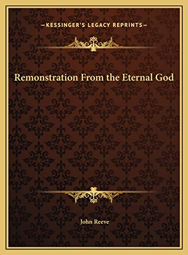 Remonstration From the Eternal God