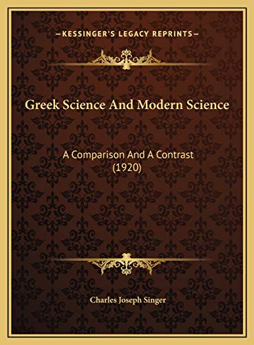 Greek Science And Modern Science