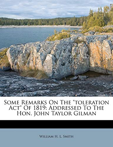 Some Remarks on the Toleration Act of 1819