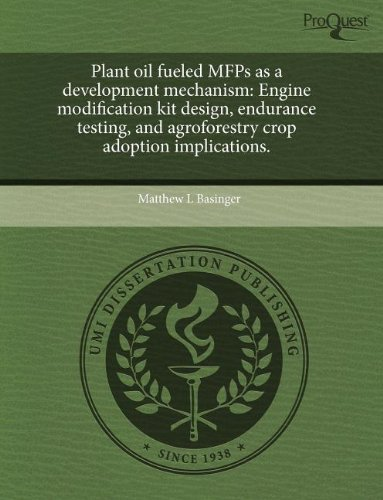 Plant Oil Fueled Mfps as a Development Mechanism