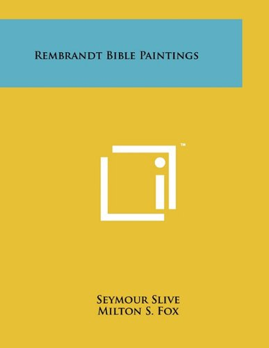 Rembrandt Bible Paintings