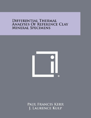 Differential Thermal Analyses of Reference Clay Mineral Specimens