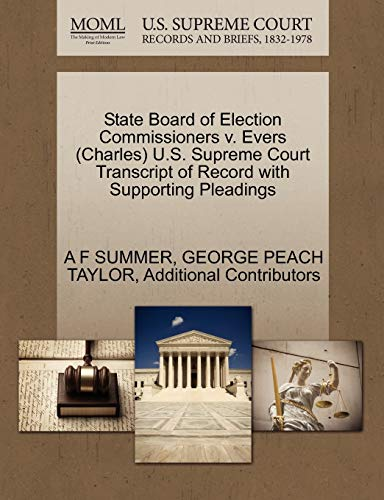 State Board of Election Commissioners V. Evers (Charles) U.S. Supreme Court Transcript of Record with Supporting Pleadings