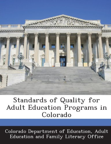 Standards of Quality for Adult Education Programs in Colorado
