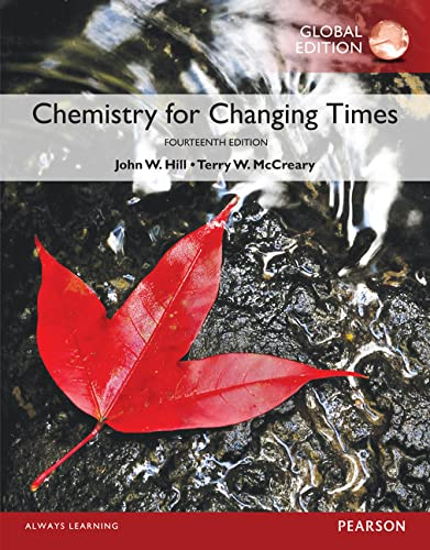 MasteringChemistry with Pearson eText -- Access Card -- for Chemistry for Changing Times, Global Edition