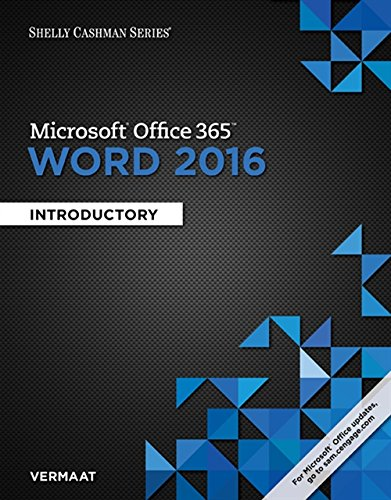 Shelly Cashman Series (R) Microsoft (R) Office 365 & Word 2016