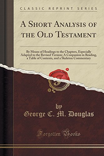 A Short Analysis of the Old Testament
