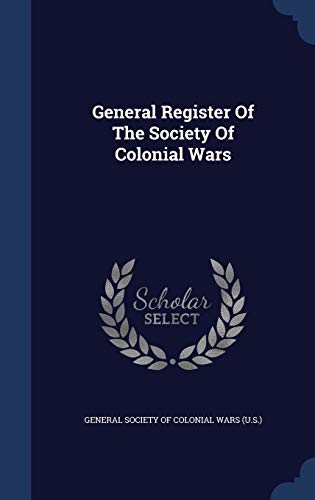 General Register of the Society of Colonial Wars