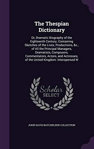The Thespian Dictionary