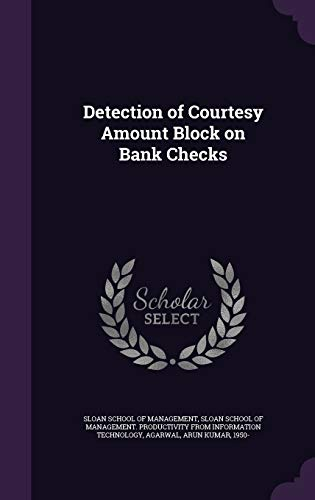 Detection of Courtesy Amount Block on Bank Checks