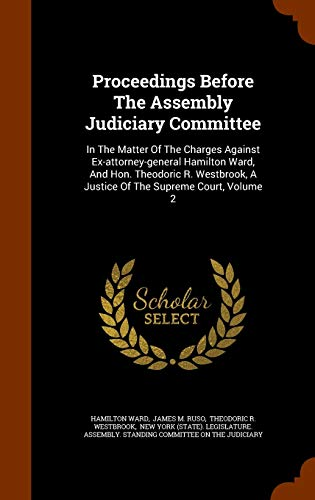 Proceedings Before the Assembly Judiciary Committee